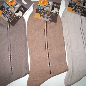 chaussette fil d'écosse pour homme -fantaisie dans les tons beige