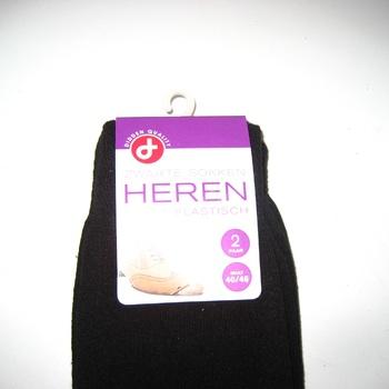 chaussettes noires avec du coton pour homme - pointure 43/46 - 2 pour 2€