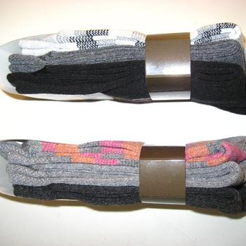 chaussettes 36/41 avec 60% coton - 3 pour 2.70€