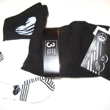 socquettes noeud noir-blanc 36/41 - 3 pour 2€