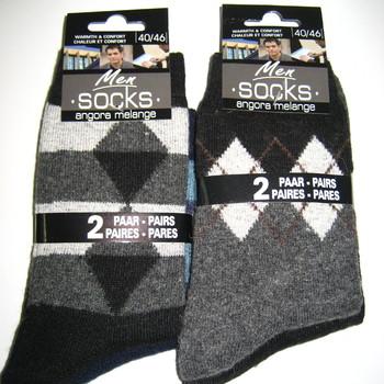 chaussettes avec laine & angora 40/46 : 2 pour 3€
