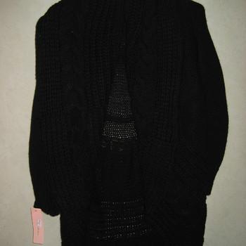 gilet long gros tricot col châle sans boutons pour dame EN PROMO
