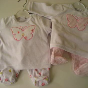 pyjama velours rasé 2 pièces papillon fille