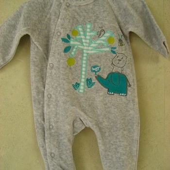 pyjama velours rasé arbre