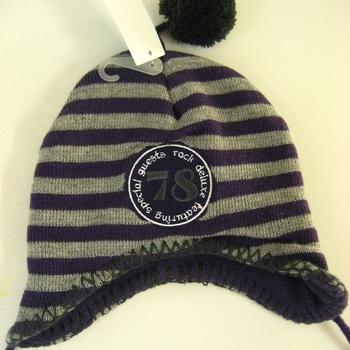 bonnet tricot intérieur polaire attachable en PROMO