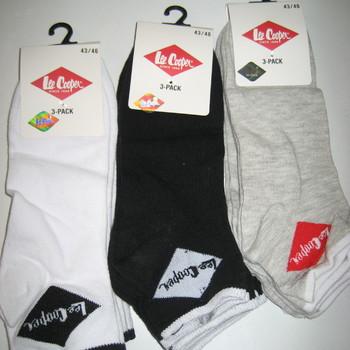 socquettes coton pour homme - lee cooper - 3 paires pour 2.60€