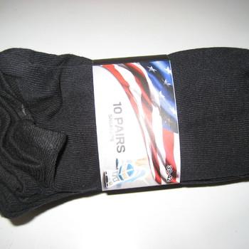 socquettes coton noires 35/39 - 10 paires pour 5€
