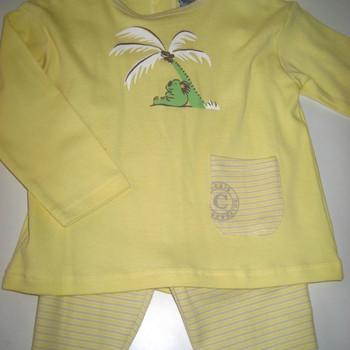 pyjama coton 2 pièces koala - reste un 62 jaune
