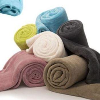 plaid maxi 1.5*2m polaire doux ou couverture d'1 personne - confort en différents coloris