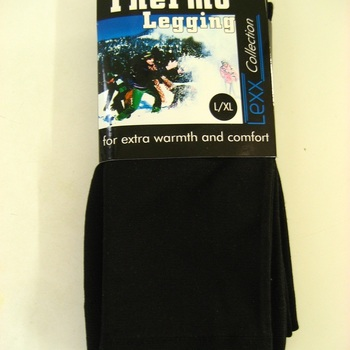 thermo legging noir pour adulte jusque XXXL