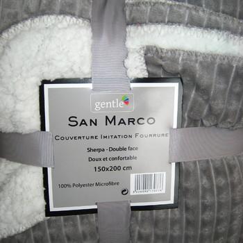 plaid MAXI 1.50*2m côté polaire tout doux - côté mouton - petits carreaux - différents coloris