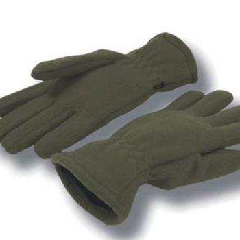 gants polaire olive