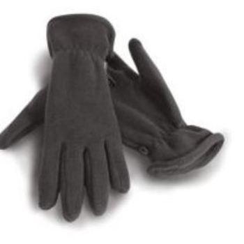 gants polaire gris
