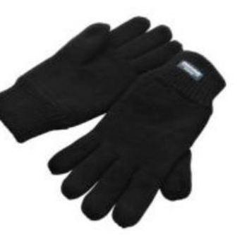 gants tricot thinsulate (intérieur polaire) noir