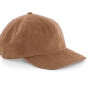casquette velours camel