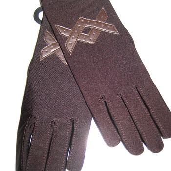 gants lycra marron