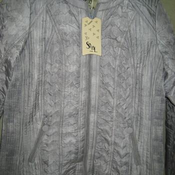 veste argentée pour dame jusque taille 56