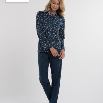 pyjama coton pour dame - irène- aussi de grandes tailles