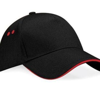 casquette noire liseraie rouge