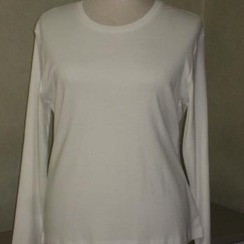 t-shirt longues manches coton lourd HS uni blanc