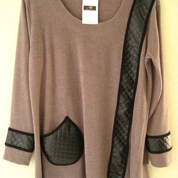 tunique tricot avec du matelassé - 2W Paris - grandes tailles pour dame EN PROMO
