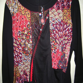 blouse nana de Paris cashemire pour dame - grandes tailles