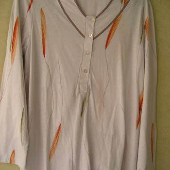 pyjama coton catini feuilles VV - reste S/M