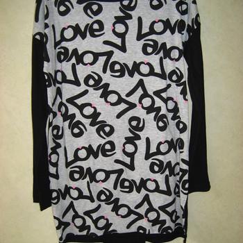 pyjama eskiss jersey love gris/noir - reste 42/44