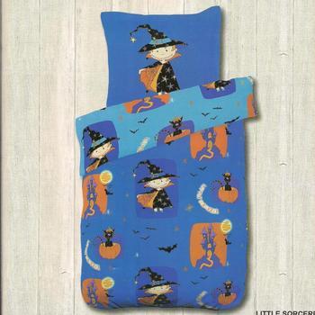 housse de couette 1.4*2m + 1 taie en coton pour lit d'1 personne - little sorcerer EN PROMO