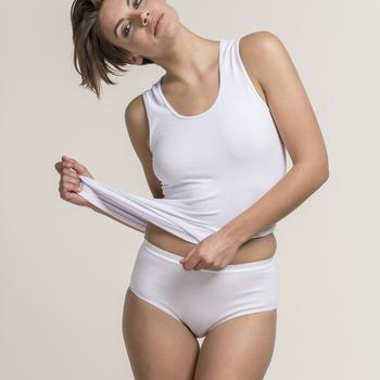 "culotte coton-élasthane ""eskimo"" pour dame - topduo midislip beige : 2 pour 7.80€"