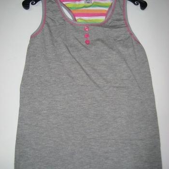 chemisette sans manches en coton pour filles de 8 à 16 ans - gris