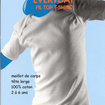 """chemisette américaine courtes manches en coton """"eskimo"""" pour les filles"""