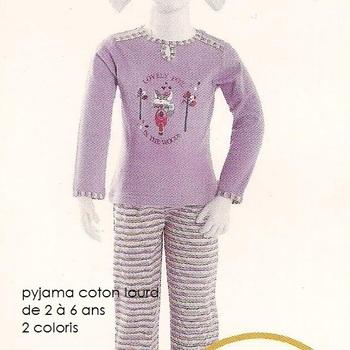 pyjama coton interlock lovely fox ( eskimo) - reste 5 & 6 ans EN PROMO