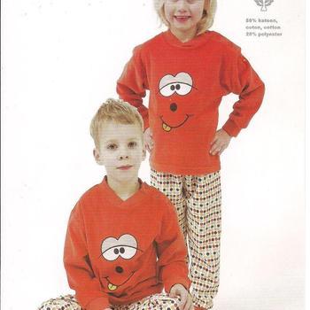 pyjama velours rasé grimace - reste 6 ans EN PROMO