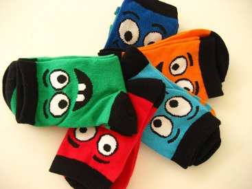 chaussettes enfant avec du coton : 5 pour 4.50€