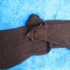 écharpe longue gros tricot pour dame - marron ou gris foncé