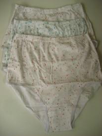 culottes hautes 100% coton fleurées - annie bleu : 3 pour 9€