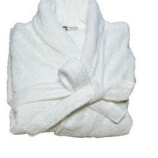 peignoir de bain pour dame & homme en blanc ou écru