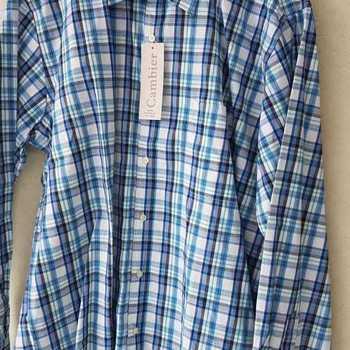 chemise longues manches bleu ou rouge EN PROMO - reste L