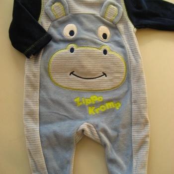 pyjama velours rasé bleu eskiss happy face