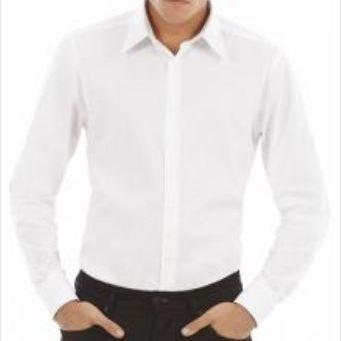chemise longues manches b&c oxford : blanche ou colorée manches blanche