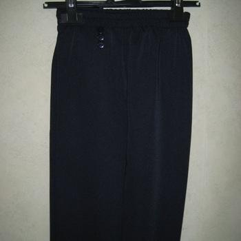 pantalon taille élastique avec boutons fantaisie aux poches - marine
