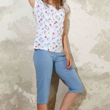 pyjama corsaire coton pour dame - blossom reste M