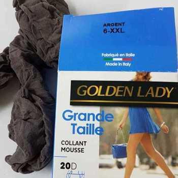 panty mousse grandes tailles golden lady - argent