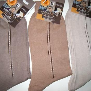 chaussette fil d'écosse pour homme -fantaisie dans les tons beige - reste 39/42