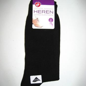 chaussettes noires avec du coton pour homme - 2 pour 2€