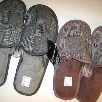 chaussons carreaux pour homme - reste 43/46