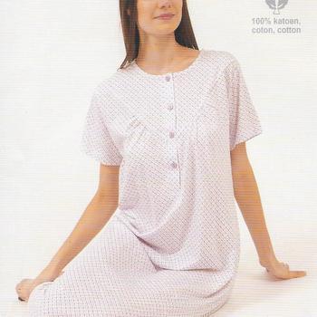 robe de nuit courtes manches coton imprimée 17