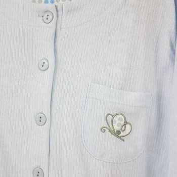 pyjama cotelé papillon pour damec - ciel - reste M