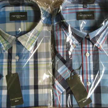 chemise courtes manches henderson pour homme - grands carreaux